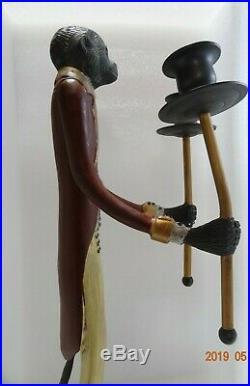 Vintage Bronze/Brass Maitland Smith Butler Monkey Candle Holder