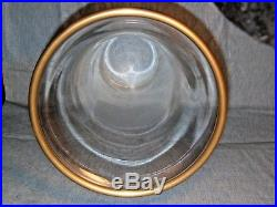 Vintage Chapman Large (25) Antique Brass withGlass Shade Hurricane Candle Holder