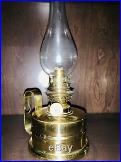 Vintage Gaudard Brass Oil Lamp Wall Mount Made in France