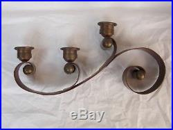 Vintage HECTOR AGUILAR Mexican Copper & Brass Candle Holder Taxco 1940s