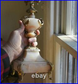 Vintage Heavy Marble & Brass 19 1/2candelabra 5 Candle Stand 1766 Copy