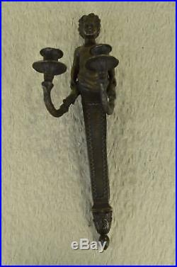 Vintage Hollywood Regency Vitaleh Wall Sconce Candle Holder Bronze/Brass