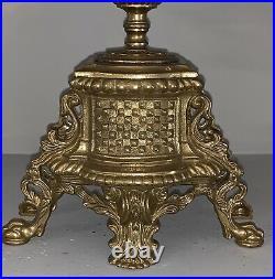 Vintage Italian Brevettato Baroque Brass Candelabra 13 Arms