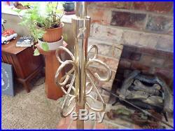 Vintage Lot 2 Church Wedding Floor Candle Holder Candelabra Adjustable Brass