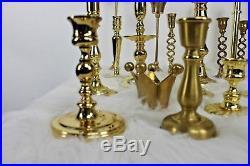 Vintage Lot 23 Baldwin Brass Candlesticks Candle Holder Wedding Reception Decor