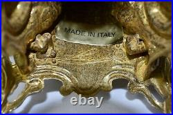 Vintage Ornate Italian Baccarini Baroque 5 Arm Brass Candelabra Ornate 20 Tall