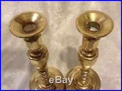 Vintage Pair of 2 Baldwin Brass 11 1/4 TALL Candle Candlestick Holder LOVELY