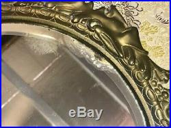 Vintage Pair of Brass Candleholders with Faces, Brass Wall Decor, Brass Sconces