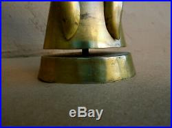 Vintage SALVADOR TERAN Mexican Brass Copper ANGEL CANDLE HOLDER Taxco
