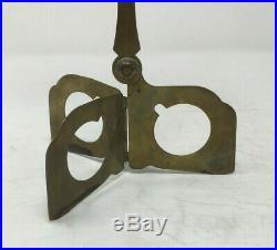 Vintage Samuel Yellin Brass Folding Pricket Candlestick