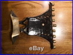 Vintage Small Brass 9 Candle Holder Chanukiyyah Menorah Jewish Hebrew