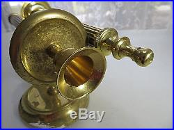 Vintage Twisted Pair Brass Sconces Made in India Candle Holder