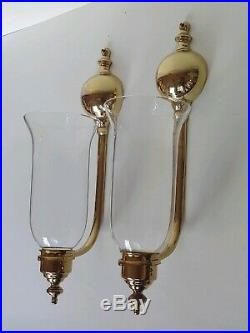 Virginia Metalcrafters Harvin Brass Wall Sconces Colonial Williamsburg #2011