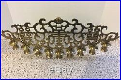 Vtg Antique Large Brass Oriental Menorah Top Candle Holder Free Priority Ship