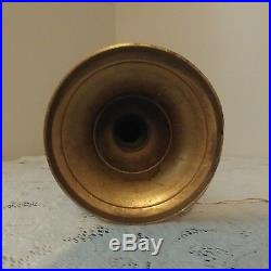 Vtg Brass Candlestick Candle Holder & Holly Water Floor Altar Church 24'' tall