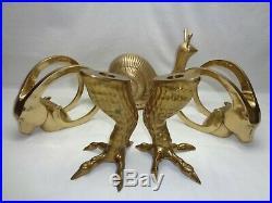 Vtg Brass Talon Claw Foot Chicken Bird Legs Candle Holders Mcm Hollywood Regency