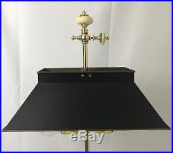 Vtg Chapman French Bouillotte Lamp Electric, Candelabra Candle Holder Desk Table