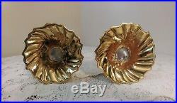 Vtg Virginia Metal Crafters Pair Brass Candle Holders CW16-10 4 Williamsburg Va