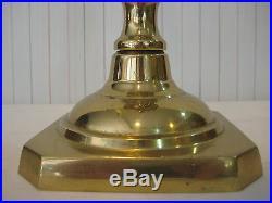 Vtg Virginia Metalcrafters Heavy Brass Candlestick Holder, 15 1/3 Tall, 4.5 Lbs