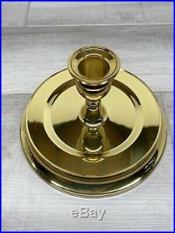 WATERFORD Crystal Brass WYNDUM HURRICANE LAMP CANDLE HOLDER 12
