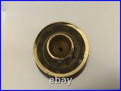 Williamsburg Restoration Wood Brass Candle Holder set 2 Virginia Metalcrafters
