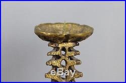 XXL 50cm Brutalist Brass Candle Holder Kerzenleuchter Mid-20th Century 6,3 Kg